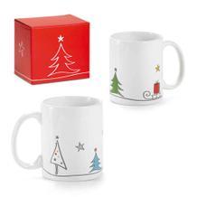 """Weihnachtliche Keramik-Tasse """"SCHLITTEN"""""""