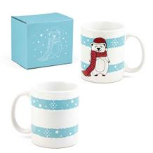 """Weihnachtliche Tasse """"SCHNEEMANN"""" aus Keramik"""