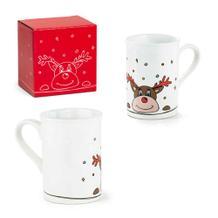 """Weihnachtliche Tasse """"ELCH"""" aus Keramik"""