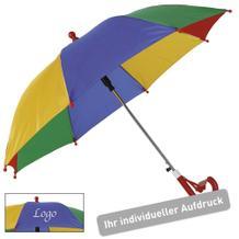 """Kinder Regenschirm """"Rainbow"""" mit Werbeaufdruck"""