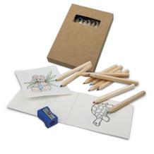 Malset mit 10 Buntstiften, 1 Spitzer, 20-seitiges Malbuch