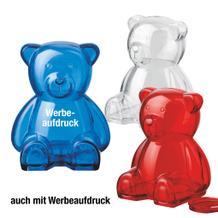 "Sparbüchse ""Baloo"" aus transparentem Kunststoff"