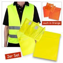 KFZ-Warnwesten-Set - VIP 2er - neutral - 2 Farben