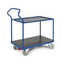 Ergotruck-Tischwagen - 2 Ladefächen - Bordleiste - in 4 Größen