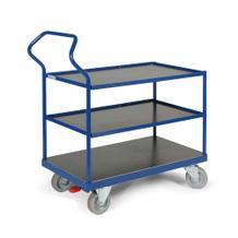 Ergotruck-Tischwagen - 3 Ladefächen - Bordleiste - in 4 Größen