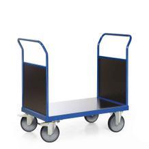 Plattformwagen mit 2 Stirnwänden aus Holz - Ladefläche 1000 x 700 mm