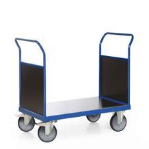 Plattformwagen mit 2 Stirnwänden aus Holz - Ladefläche 1200 x 800 mm