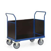 Plattformwagen mit 3 Wänden aus Holz - Ladefläche 1200 x 800 mm