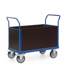 Plattformwagen mit 4 Wänden aus Holz - Ladefläche 1000 x 700 mm