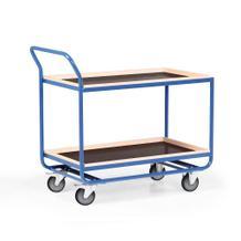 Tischwagen - 2 Ladeflächen - Bordleiste Buche - 1000 x 600 mm