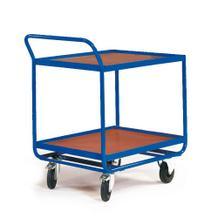 Tischwagen für 2 x 2 Transportbehälter - 600 x 400 mm - 2 Ladeflächen