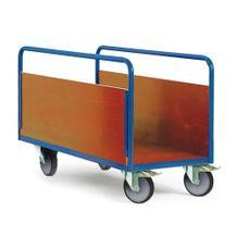 Plattformwagen, gut für Nassbereiche - 4 Größen - 2 Seitenwände aus Holz