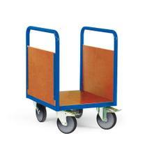 Plattformwagen für unebene Böden - 4 Größen - 2 Seitenwände aus Holz
