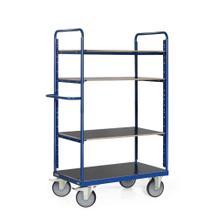 Etagenwagen - 4 Ladeflächen - Gesamthöhe 1800 mm - in 3 Größen