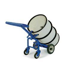 Fasskarre für alle 200-Liter-Fässer - mit Stützrollen - Vollgummi- oder Lufträder