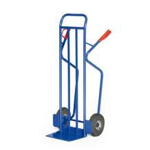 Stahlrohr-Stapelkarre mit Luftbereifung - 350 kg Traglast