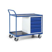 Werkstattwagen mit Schiebebügel - 4 Schubladen - Tragkraft 300 kg