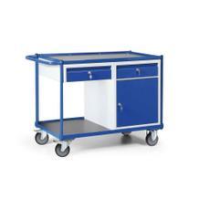 Werkstattwagen mit Schiebegriff - Schrank und Schubladen - Tragkraft 300 kg