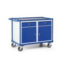 Werkstattwagen mit Schiebegriff - 2 Türen und 2 Schubladen - Tragkraft 300 kg