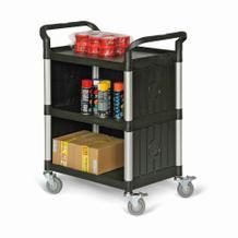 Kunststoff-Etagenwagen - 3 Ladeflächen - 3-seitige Verkleidung