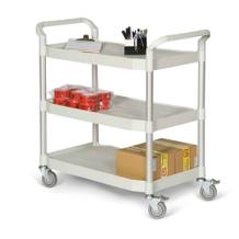 Kunststoff-Etagenwagen - 3 Ladeflächen - 915 x 520 mm