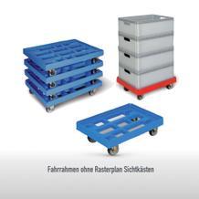 Transportroller - aus HDPE - für Behälter im Euroformat 400 × 600 mm