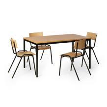 Tisch-Stuhl-Kombination, Vierer-Kombination, Tisch 1600 mm