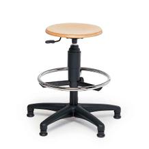 Solider Arbeitshocker - Sitz aus Buche