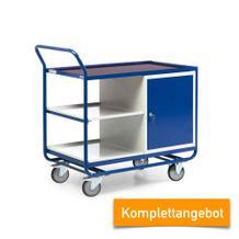 Kombinierbarer Werkstattwagen - Schrank und Ablagen - Tragkraft 300 kg - Komplettangebot