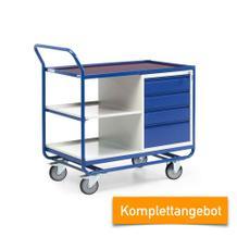 Kombinierbarer Werkstattwagen - Schrank mit Schubladen - Tragkraft 300 kg - Komplettangebot