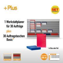 Plantafel-Set groß für DIN A4 (für 30 Aufträge + 30 Taschen)