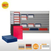 Plantafel-Set groß - mit Wechselleiste - für DIN A4 - für 30 Aufträge + 30 Taschen