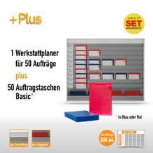 Plantafel-Set groß für DIN A4 (für 50 Aufträge + 50 Taschen)