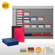 Plantafel-Set groß - mit Wechselleiste - für DIN A4 - für 50 Aufträge + 50 Taschen