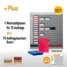 Plantafel-Set groß für DIN A4 (für 75 Aufträge + 80 Taschen)