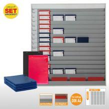 Plantafel-Set groß - mit Wechselleiste - für DIN A4 - für 75 Aufträge + 80 Taschen