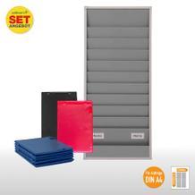 Plantafel-Set - für DIN A4 - für 20 Aufträge + 20 Auftragstaschen