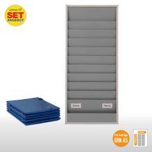 Plantafel-Set - für DIN A5 - für 20 Aufträge + 20 Auftragstaschen