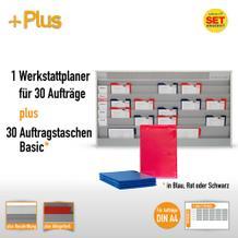 Plantafel-Set mit Zeitstrahl für DIN A4 (30 Aufträge + 30 Taschen)