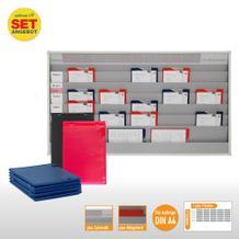 Plantafel-Set - mit Zeitstrahl - für DIN A4 - für 30 Aufträge + 30 Taschen