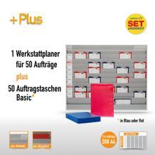 Plantafel-Set mit Zeitstrahl für DIN A4 (50 Aufträge + 50 Taschen)