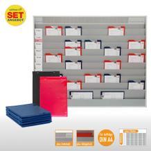 Plantafel-Set - mit Zeitstrahl - für DIN A4 - für 50 Aufträge + 50 Taschen