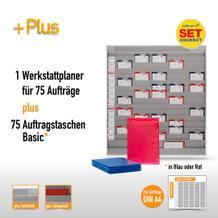 Plantafel-Set mit Zeitstrahl für DIN A4 (75 Aufträge + 80 Taschen)
