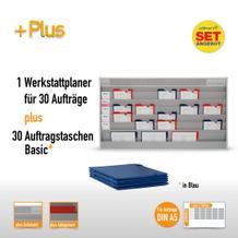 Plantafel-Set mit Zeitstrahl für DIN A5 (30 Aufträge + 30 Taschen)