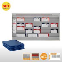 Plantafel-Set - mit Zeitstrahl - für DIN A5 - 30 Aufträge + 30 Taschen