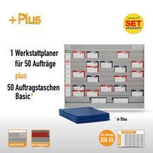Plantafel-Set mit Zeitstrahl für DIN A5 (50 Aufträge + 50 Taschen)
