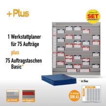 Plantafel-Set mit Zeitstrahl für DIN A5 (75 Aufträge + 80 Taschen)