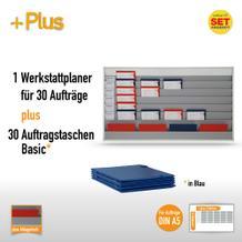 Plantafel-Set für DIN A5 (30 Aufträge + 30 Taschen)