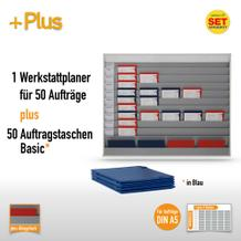 Plantafel-Set für DIN A5 (50 Aufträge + 50 Taschen)