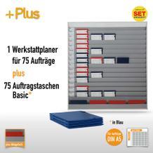 Plantafel-Set für DIN A5 (75 Aufträge + 80 Taschen)